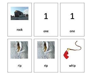 Artic GO FISH for /r/ and /w/ minimal pairs
