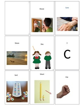 Articulation GO FISH for /s/ and /ʃ/ minimal pairs