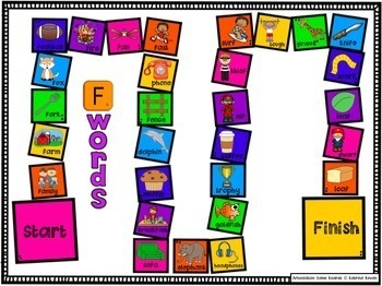 Articulation Game Boards for speech and language therapy