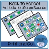 Articulation Game Boards - Back to School Theme