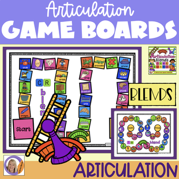 Articulation Game Boards for speech and language therapy (blends)
