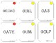 Articulation Game- /G/ All Positions Cards- Use with Fibber Game Speech & Lang