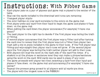 Articulation Game- /K/ All Positions Cards- Use with Fibber Game Speech & Lang