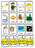 OH NO! Articulation Game Cards for Basic S-Blends