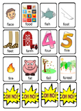 OH NO! Articulation Game Cards for Initial F