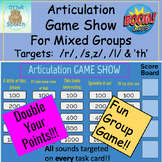 Articulation Game Show - Combination:  /l/, /s,z/, /r/ and 'th'