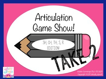Articulation Game Show: Sh, Ch, Th, S, R Edition TAKE 2!