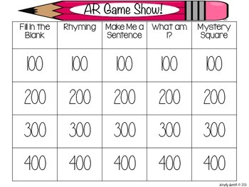 Articulation Game Show: Vocalic R Edition