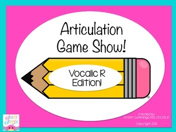 Articulation Game Show: Vocalic R Edition