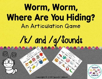 Articulation Game for /k/ and /g/ Sounds