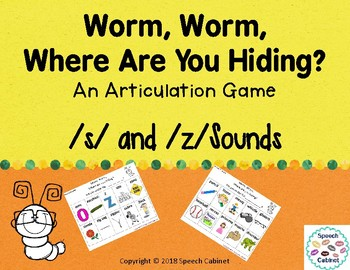 Articulation Game for /s/ and /z/ sounds