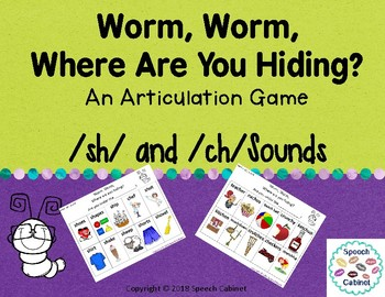 Articulation Game for /sh/ and /ch/ sounds