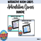 Articulation Boom Card Bundle - Snakes and Ladders w/ spin