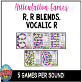 Articulation Games: R, R Blends, Vocalic R