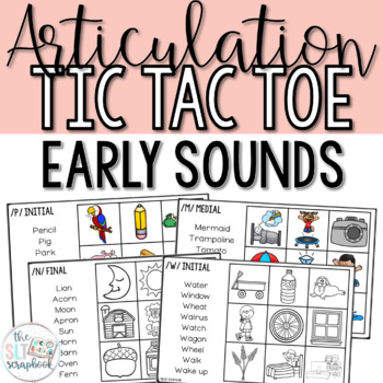 Articulation Games- Tic Tac Toe- Early Sounds