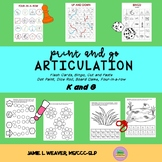Articulation Games and Activities Speech for G and K Sounds