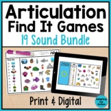 Articulation Games for Speech Therapy: Find It BUNDLE | Pr