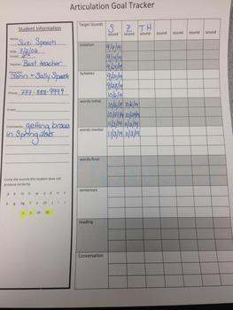 Articulation Goal Tracker