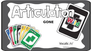Articulation Gone WILD Vocalic R; Articulation Uno; Speech Therapy
