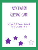 Articulation Guessing Game (Like CatchPhrase): R, Vocalic