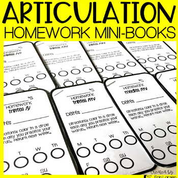Articulation Homework Mini-books for ALL SOUNDS