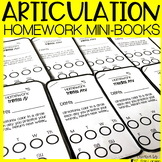 Articulation Homework Mini-books for ALL SOUNDS | Speech Therapy Homework