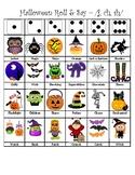 Articulation Halloween Roll & Say - (j, sh, ch)