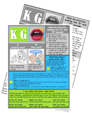 Articulation Handouts for Middle Sounds: K, G, T, D, F, V, L, NG