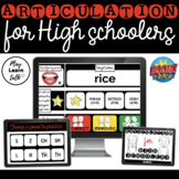 Articulation - High School - Boom Cards - Distance Learning