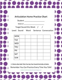 Articulation Home Practice Chart
