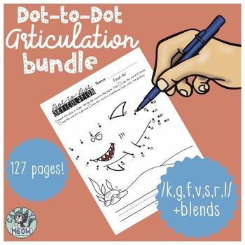 Articulation Homework: Dot-to-Dot BUNDLE /k,g,f,v,s,l,r/ + blends