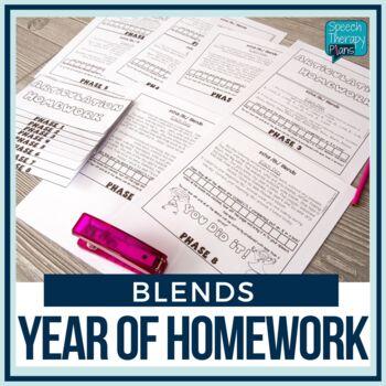 Articulation Homework Flip Books Set 4 (R, L, S Blends)