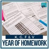Articulation Homework Flipbooks Set 1 (K, G, F, V)