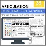 Articulation Homework Packet: 2016-2017 School Year