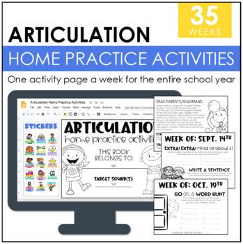 Articulation Homework Packet: 2017-2018 School Year