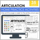 Articulation Homework Packet: 2015-2016 School Year