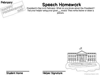 Articulation Homework Packet BUNDLE