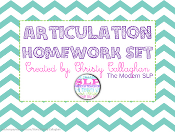 Articulation Homework Set