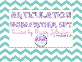 Articulation Homework Set