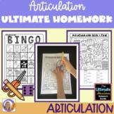 Distance Learning Artic Homework: Ultimate Articulation Ho