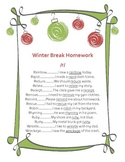 Articulation Homework for Initial /r/-Holiday Theme