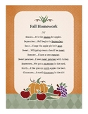 Articulation Homework for Initial /s/-Harvest Theme