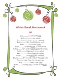Articulation Homework for Initial /s/-Holiday Theme