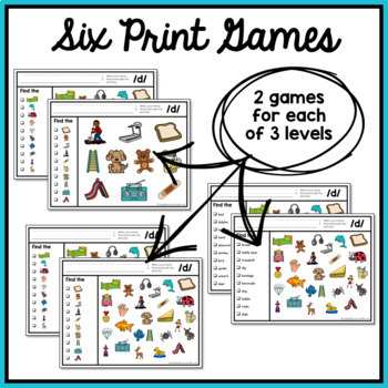 Articulation Activity: /d/ Find It Speech Therapy Game