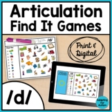 Articulation Activity: /d/ Find It Speech Therapy Games