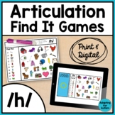 Articulation Activity: /h/ Find It Speech Therapy Games
