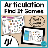 Articulation Activity: /j/ Find It Speech Therapy Games