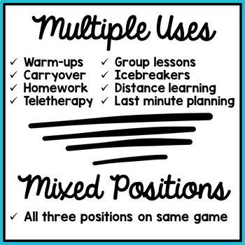 Articulation Activity: /p/ Find It Speech Therapy Game