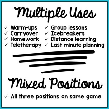 Articulation Activity: /t/ Find It Speech Therapy Game
