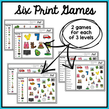 Articulation Activity: /v/ Find It Speech Therapy Game